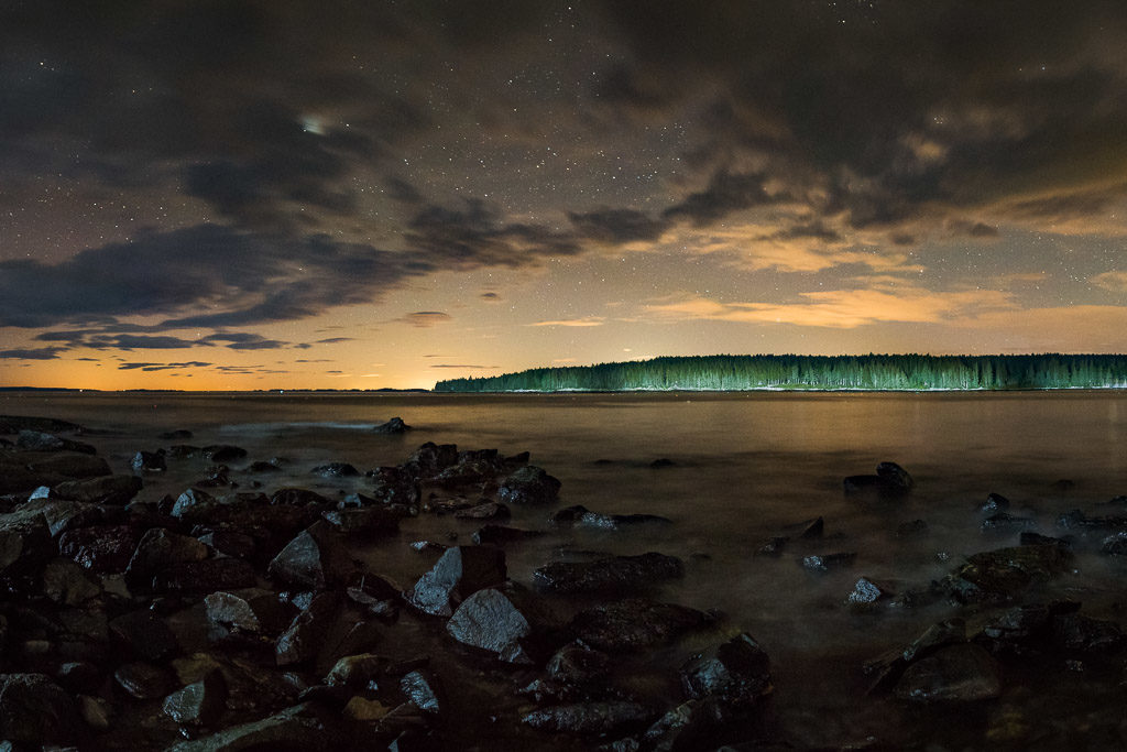 Panoramic Night Photo: ight photo of Iceland: ©Lance Keimig. All rights reserved.