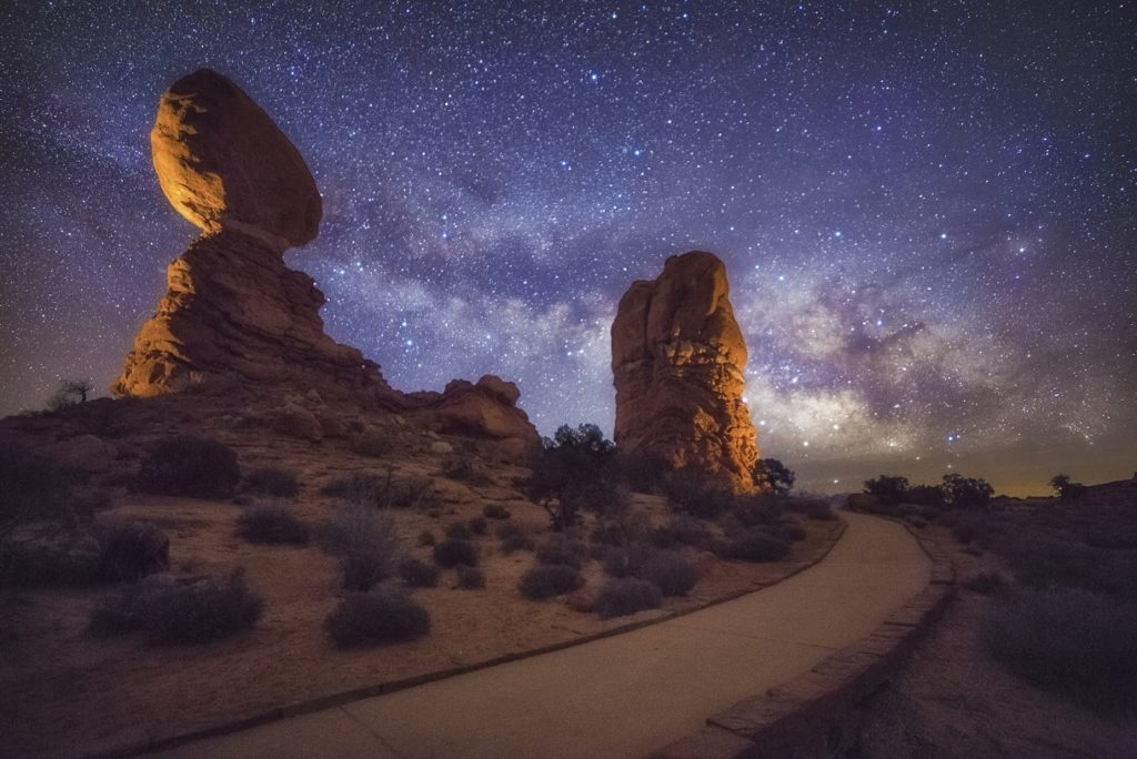 Milky Way and Rock Formations