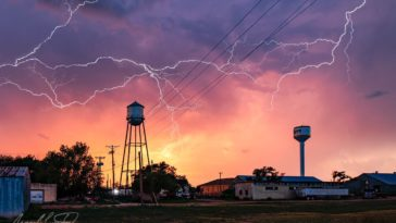 LIghtning over Happy, TX ©Jim Livingston