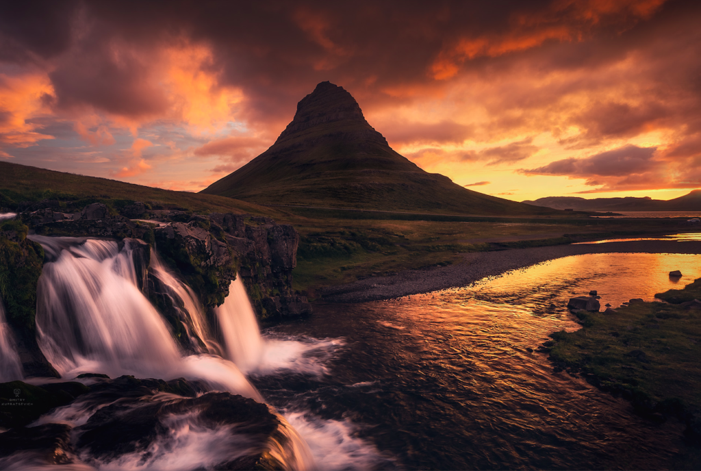 Waterfall in Iceland, ©Dmitry Kupratsevich