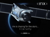 Irix 300SR lens on its satellite mount