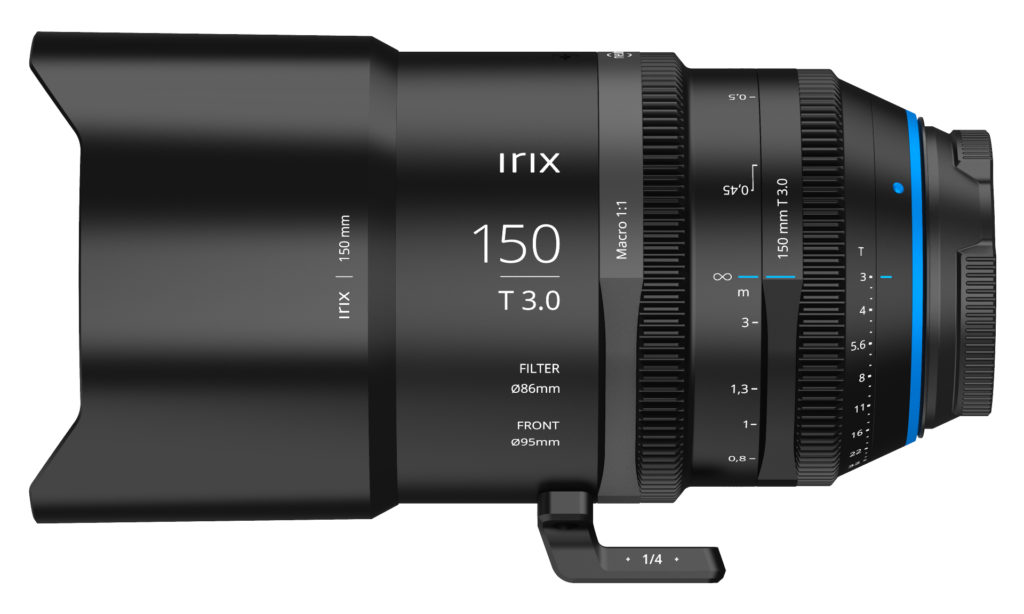 Irix cinema lens showing T 3.0