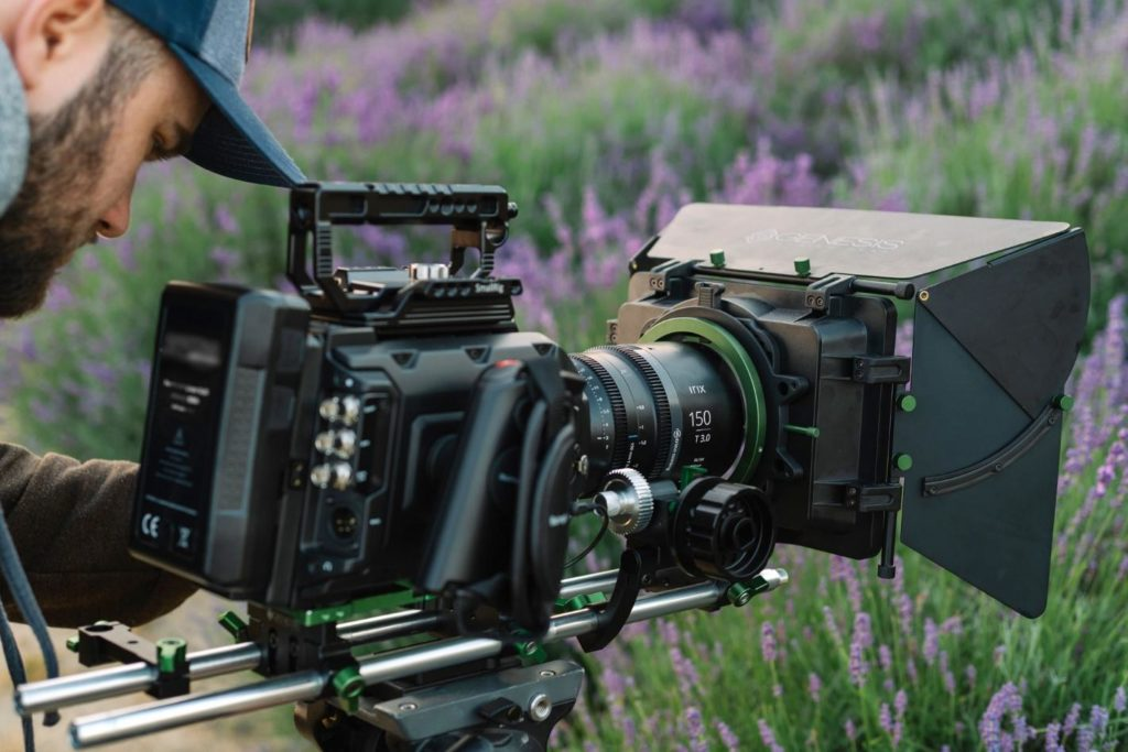 Irix 150mm cinema lens in use for video