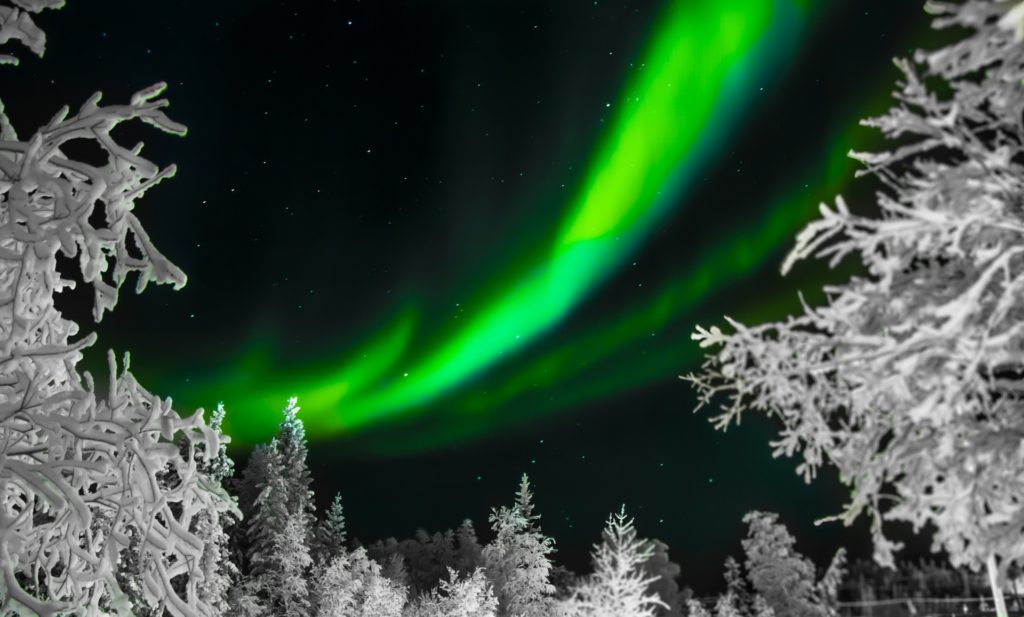 A creative shot of the Northern Lights
