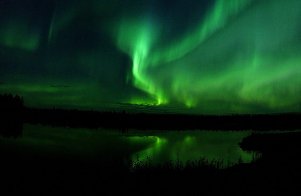 The Auroroa Borealis over a lake